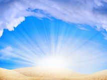 ήλιος αμμόλοφων Στοκ εικόνα με δικαίωμα ελεύθερης χρήσης