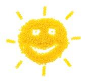 Ήλιος από τα ζυμαρικά Στοκ εικόνες με δικαίωμα ελεύθερης χρήσης