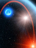 ήλιος αστεριών ουρανού κ Στοκ Φωτογραφίες
