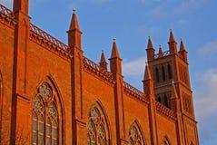 ήλιος βραδιού εκκλησιών werdersche στοκ εικόνες