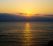 ήλιος βραδιού στοκ φωτογραφία