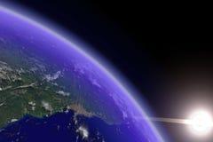 ήλιος γήινων οριζόντων Στοκ φωτογραφία με δικαίωμα ελεύθερης χρήσης