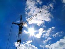 ήλιος γερανών Στοκ φωτογραφία με δικαίωμα ελεύθερης χρήσης