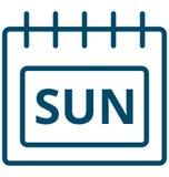 Ήλιος, διανυσματικό εικονίδιο ημέρας γεγονότος της Κυριακής ειδικό που μπορεί να τροποποιηθεί εύκολα ή να εκδώσει διανυσματική απεικόνιση