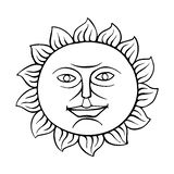 Ήλιος εικονιδίων, διάνυσμα Στοκ Φωτογραφίες