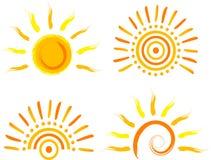 ήλιος εικονιδίων διανυσματική απεικόνιση