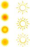 ήλιος εικονιδίων συλλογής Στοκ Εικόνες