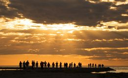 ήλιος κάτω Στοκ εικόνες με δικαίωμα ελεύθερης χρήσης