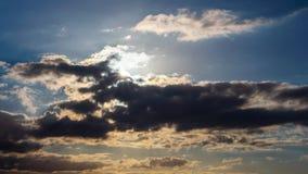 Ήλιος και σύννεφα, χρόνος-σφάλμα απόθεμα βίντεο