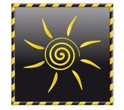 ήλιος κουμπιών ελεύθερη απεικόνιση δικαιώματος