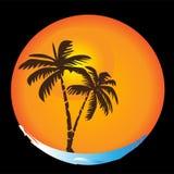 ήλιος λογότυπων παραλιών απεικόνιση αποθεμάτων