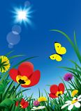 ήλιος λουλουδιών απεικόνιση αποθεμάτων