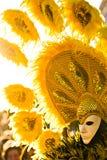 ήλιος μασκών κίτρινος Στοκ φωτογραφία με δικαίωμα ελεύθερης χρήσης