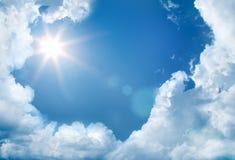 ήλιος ουρανού Στοκ φωτογραφίες με δικαίωμα ελεύθερης χρήσης
