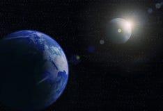 ήλιος πλανητών γήινων φεγγ ελεύθερη απεικόνιση δικαιώματος