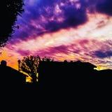 Ήλιος που τίθεται σε Καλιφόρνια στοκ εικόνα με δικαίωμα ελεύθερης χρήσης