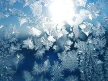 ήλιος προτύπων παγετού Στοκ Φωτογραφία