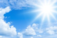 ήλιος σύννεφων στοκ φωτογραφίες