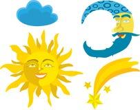 ήλιος φεγγαριών Απεικόνιση αποθεμάτων