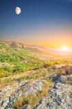 ήλιος φεγγαριών Στοκ φωτογραφίες με δικαίωμα ελεύθερης χρήσης