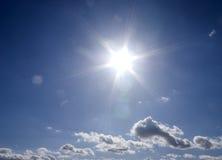 ήλιος φλογών Στοκ φωτογραφία με δικαίωμα ελεύθερης χρήσης