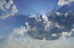 ήλιος φυσήματος στοκ εικόνα