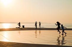ήλιος χαιρετισμού της Κροατίας σε zadar Στοκ Εικόνα