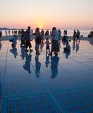 ήλιος χαιρετισμού της Κροατίας σε zadar Στοκ Φωτογραφία