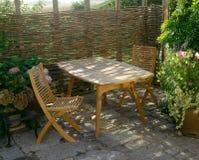 ήλιος χαλάρωσης patio στοκ εικόνες