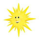 ήλιος χαμόγελου διανυσματική απεικόνιση