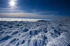 ήλιος χιονιού στοκ φωτογραφία