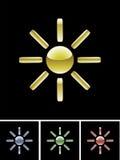 ήλιος χρωμάτων Διανυσματική απεικόνιση