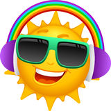ήλιος 4 χαρακτηρών κινουμέν διανυσματική απεικόνιση