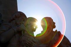 ήλιος padrao της Λισσαβώνας φλογών DOS descobriments Στοκ φωτογραφία με δικαίωμα ελεύθερης χρήσης