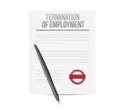 λήξη του εγγράφου απασχόλησης απεικόνιση αποθεμάτων