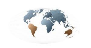Ήπειροι παγκόσμιων χαρτών απεικόνιση αποθεμάτων