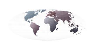 Ήπειροι παγκόσμιων χαρτών ελεύθερη απεικόνιση δικαιώματος