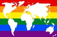 Ήπειροι του πλανήτη Γη στα χρώματα της σημαίας ελεύθερη απεικόνιση δικαιώματος