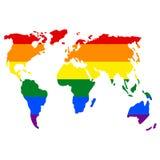 Ήπειροι του πλανήτη Γη στα χρώματα της σημαίας απεικόνιση αποθεμάτων