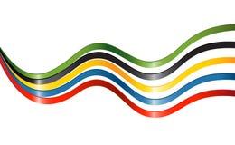 ήπειροι χρωμάτων πέντε κορδέλλες ελεύθερη απεικόνιση δικαιώματος