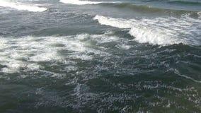 Ήπια κυλώντας και σπάζοντας κύματα στον ωκεανό απόθεμα βίντεο