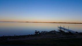 Ήρεμα νερά σούρουπου Στοκ φωτογραφία με δικαίωμα ελεύθερης χρήσης