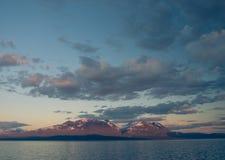 Ήρεμη λίμνη Akkajaure Στοκ Φωτογραφίες