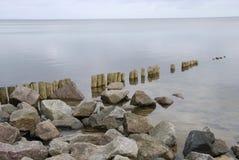 ήρεμη ακτή Βόρειας Θάλασσας Στοκ εικόνα με δικαίωμα ελεύθερης χρήσης