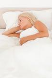 ήρεμη γυναίκα ύπνου Στοκ εικόνες με δικαίωμα ελεύθερης χρήσης