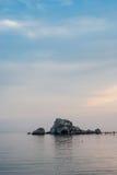 Ήρεμη θάλασσα βραδιού Μαύρη Θάλασσα Κριμαία Στοκ Εικόνες