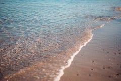 Ήρεμη κυματωγή βραδιού σε Μαύρη Θάλασσα Στοκ Εικόνες