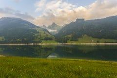Ήρεμη σκηνή στην Ελβετία στοκ φωτογραφία