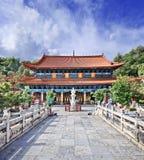 Ήρεμος βουδιστικός ναός Yuantong, Kunming, επαρχία Yunnan, Κίνα στοκ εικόνες με δικαίωμα ελεύθερης χρήσης