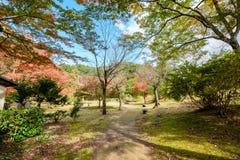 Ήρεμος κήπος φθινοπώρου σκιερός Στοκ εικόνα με δικαίωμα ελεύθερης χρήσης